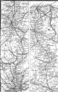GT EASTERN RAIL: Cambridge, Ely, Norwich, Yarmouth, 1874 map